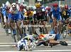 Zolder: Werelodkampioenschap wielrennen op de weg voor junioren, foto Marketa Navratilova/Cor Vos ©2002  Hausler en Rojas Gil