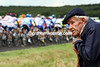 AN ELDERLY FRENCHMAN WATCHES THE TOUR ON STAGE ELEVEN OF THE 2009 TOUR DE FRANCE