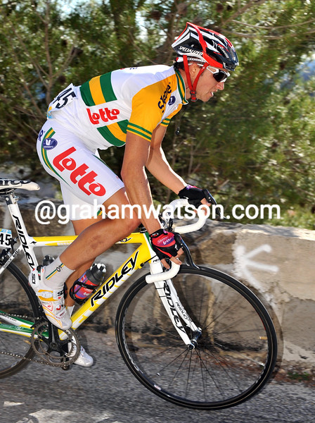 MATTHEW LLOYD ON STAGE SEVEN OF THE 2008 PARIS-NICE