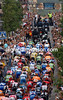 THE PELOTON CLIMBS THROUGH EL ESCORIAL ON STAGE NINETEEN OF THE 2007 TOUR OF SPAIN