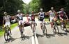 AUSTRALIAN CYCLISTS POSE ON STAGE TWENTY ONE OF THE 2009 TOUR DE FRANCE