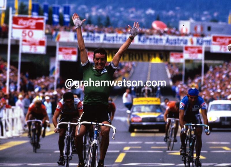 Stephen Roche wins the 1987 World Championships in Austria