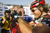 STUART O'GRADY AND FABIAN CANCELLARA AFTER THE 2007 PARIS-ROUBAIX