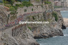 The peloton passes Amalfi on Stage 4 of the 2007 Giro d'Italia
