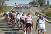 THE PELOTON IS BROKEN UP BY THE WIND ON STAGE SIX OF THE 2007 TOUR OF SPAIN