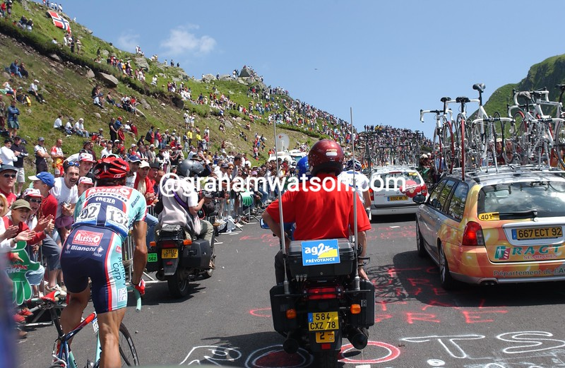 On the Puy Mary in Stage 10 of the 2004 Tour de France
