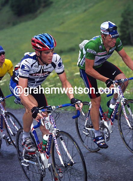 Kevin Livingston and Lance Armstrong in the 2000 Dauphine-Libere