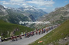 THE PELOTON CLIMBS THE COL D'ISERAN ON STAGE NINE OF THE 2007 TOUR DE FRANCE