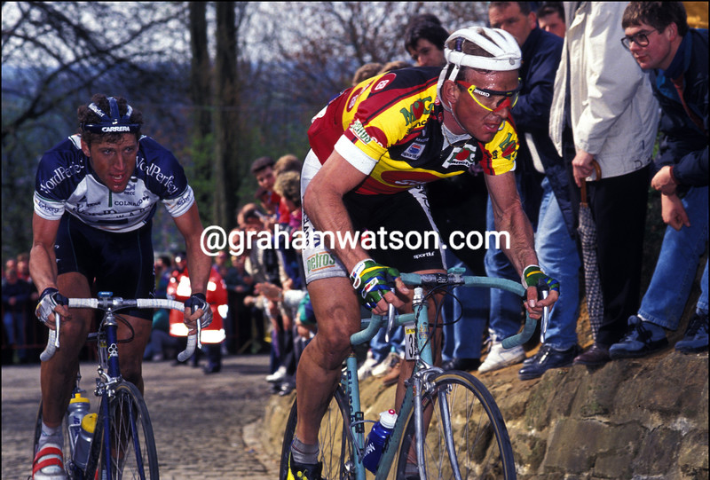 JOHAN MUSEEUW IN THE 1993 TOUR OF FLANDERS