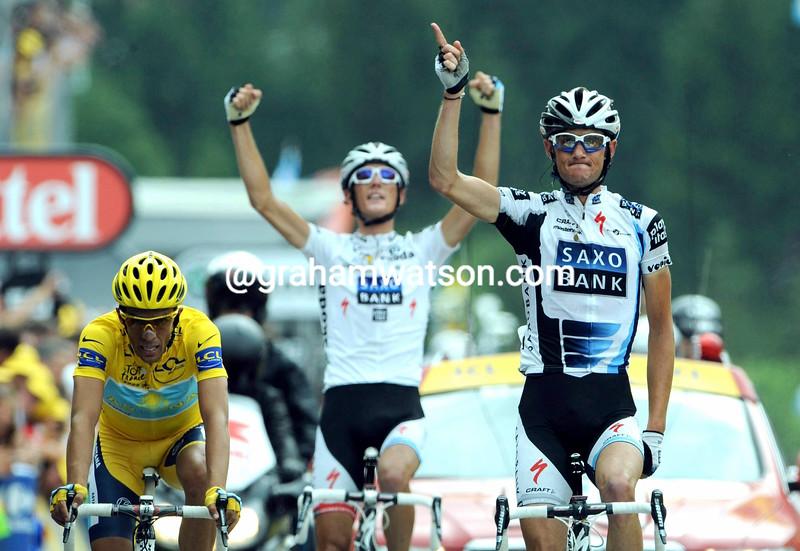 FRANK SCHLECK WINS STAGE SEVENTEEN OF THE 2009 TOUR DE FRANCE