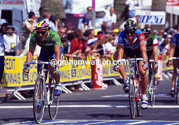 Abdujaparov in the 1991 Tour de France