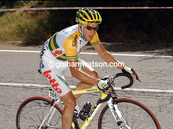 MATTHEW LLOYD ON STAGE EIGHT OF THE 2008 TOUR OF SPAIN