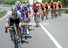 CRAIG LEWIS LEADS THE PELOTON ON STAGE EIGHT OF THE 2011 GIRO D'ITALIA