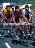 Kevin Livingston leads Jan Ullrich and Lance Armstrong during the 2003 Tour de France