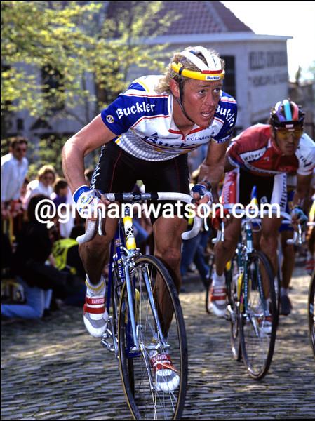 ERIC VANDERAERDEN IN THE 1989 TOUR OF FLANDERS