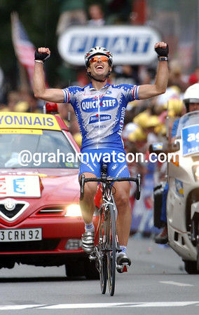 SERVAIS KNAVEN AT THE 2003 TOUR DE FRANCE