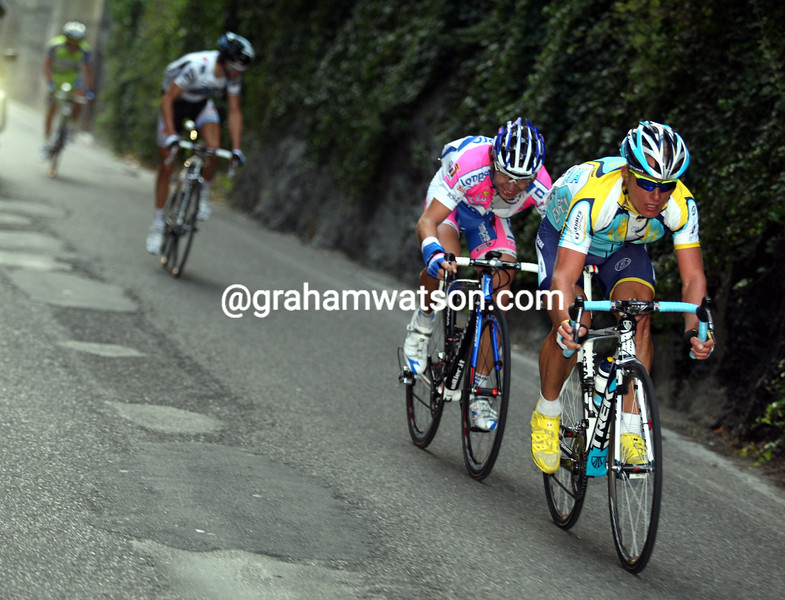 ALEXANDRE VINOKOUROV ATTACKS IN THE 2009 GIRO DI LOMBARDIA