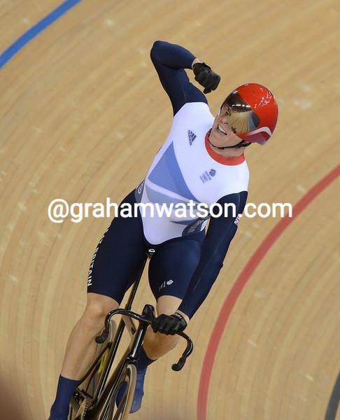 Chris Hoy wins the 2012 Olympic Kierin Gold medal