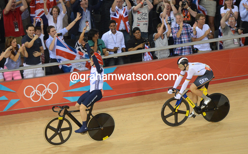Chris Hoy wins the Olympic Kierin Gold medal in 2012