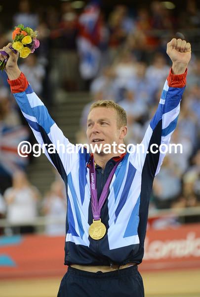 Chris Hoy wins the Olympic Kierin Gold medal