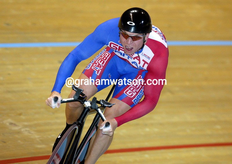 Chris Hoy in the 2004 World Track Championships