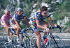 Cadel Evans paces Bettini and Garzelli in the 2002 Giro d'Italia