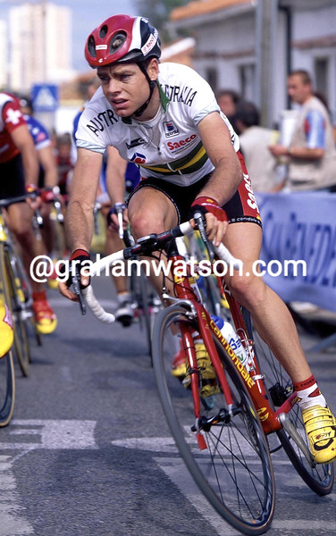 Cadel Evans in the 2001 World Championship