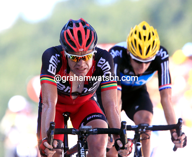 Cadel Evans on stage seven of the 2012 Tour de France