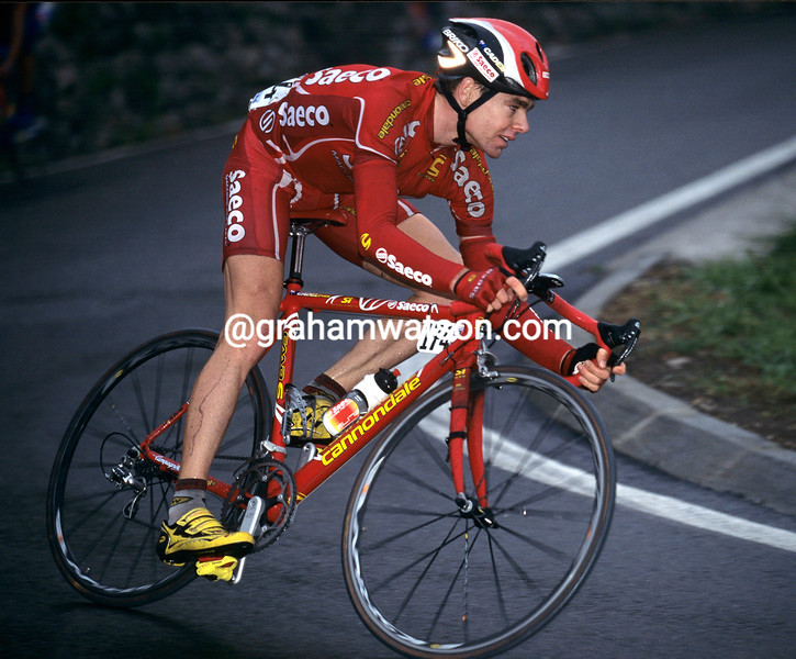 CADEL EVANS IN THE 1999 TOUR OF LOMBARDY