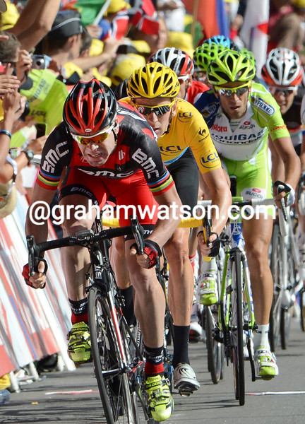 Cadel Evans on stage ten of the 2012 Tour de France