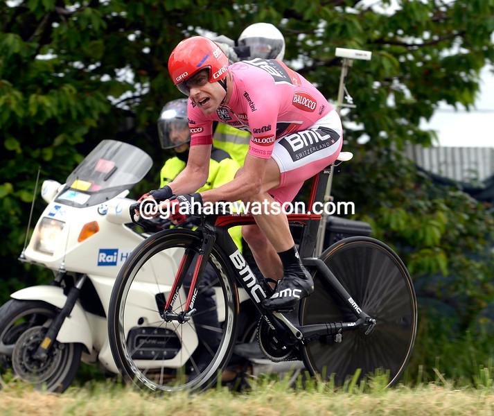 Cadel Evans on stage twelve of the 2014 Giro d'Italia