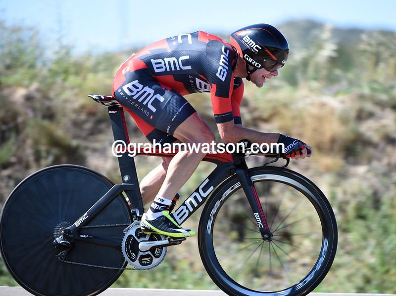 Cadel Evans on stage ten of the 2014 Tour of Spain