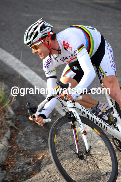 CADEL EVANS IN THE 2009 GIRO DI LOMBARDIA
