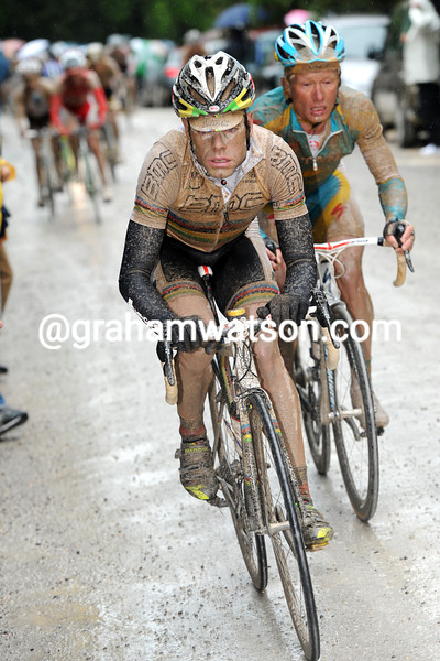 CADEL EVANS WINS STAGE SEVEN OF THE 2010 GIRO D'ITALIA