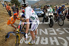 CADEL EVANS MAKES A WHEEL-CHANGE ON STAGE THIRTEEN OF THE 2009 TOUR OF SPAIN