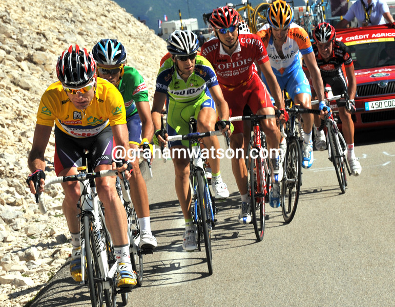 CADEL EVANS ON STAGE FIVE OF THE 2009 DAUPHINE-LIBERE