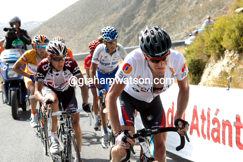 CADEL EVANS ON STAGE FIFTEEN OF THE 2007 TOUR OF SPAIN
