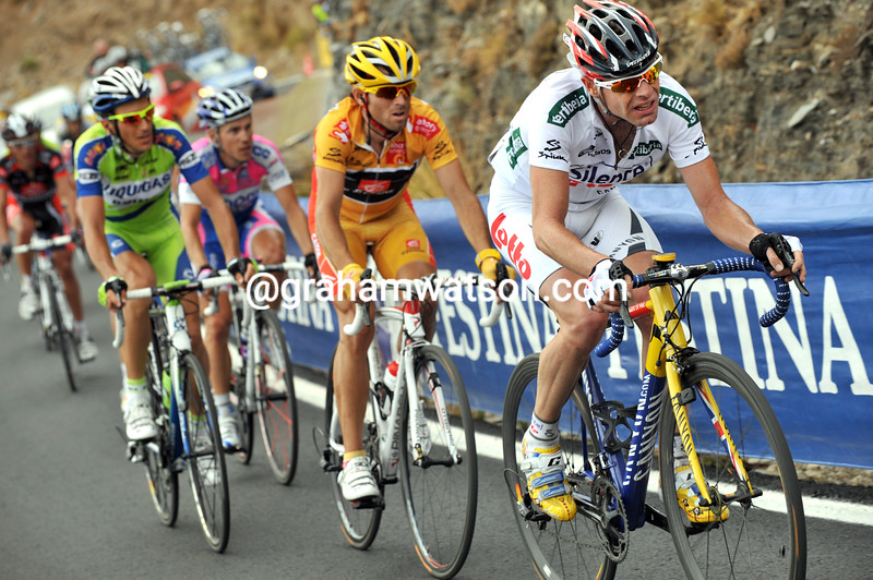 CADEL EVANS ON STAGE TWELVE OF THE 2009 TOUR OF SPAIN