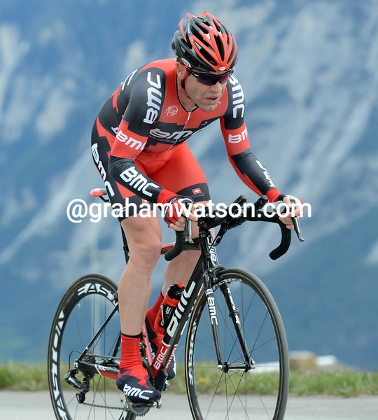 Cadel Evans on stage five of the 2012 Tour de Romandie