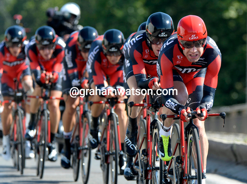 Cadel Evans and BMC on stage three of the 2013 Tour de France