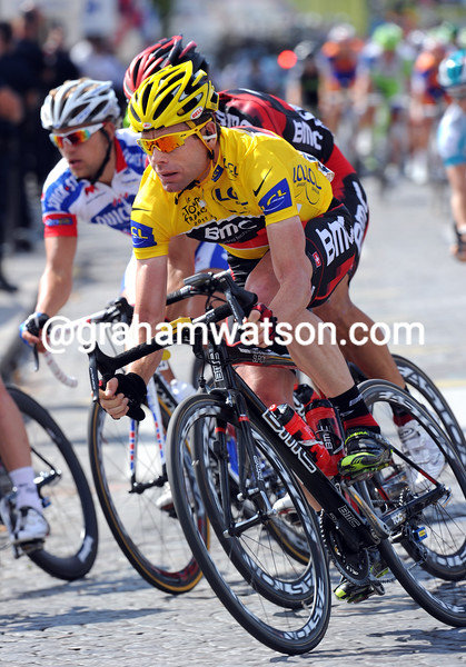 CADEL EVANS ON STAGE TWENTY ONE OF THE 2011 TOUR DE FRANCE