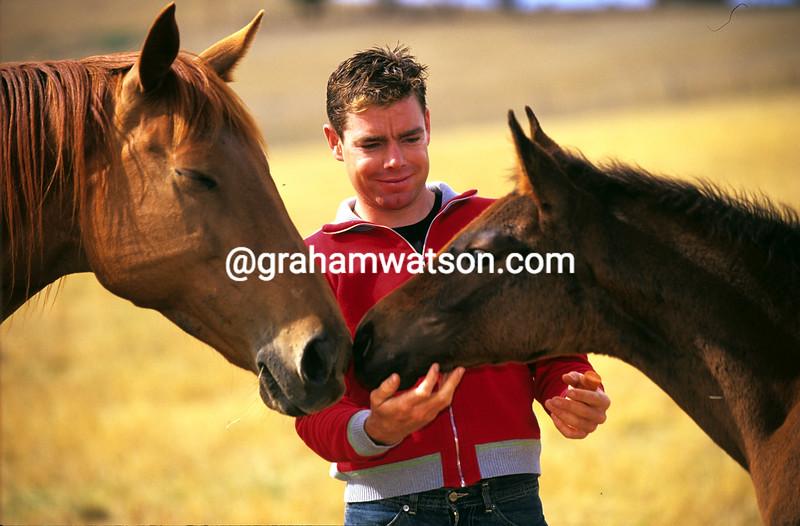Cadel Evans in Australia in 2003