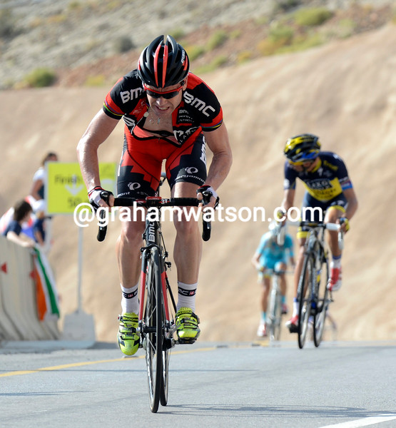 Cadel Evans on stage 4 of the 2013 Tour of Oman