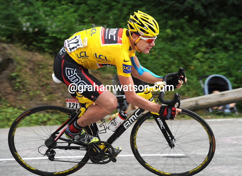 CADEL EVANS ON STAGE NINE OF THE 2009 TOUR DE FRANCE