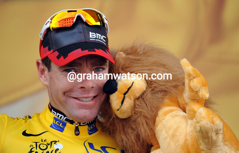 CADEL EVANS ON STAGE TWENTY OF THE 2011 TOUR DE FRANCE