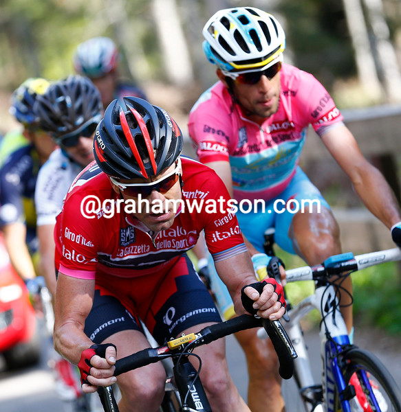 Cadel Evans on stage ten at the 2013 Giro d'Italia