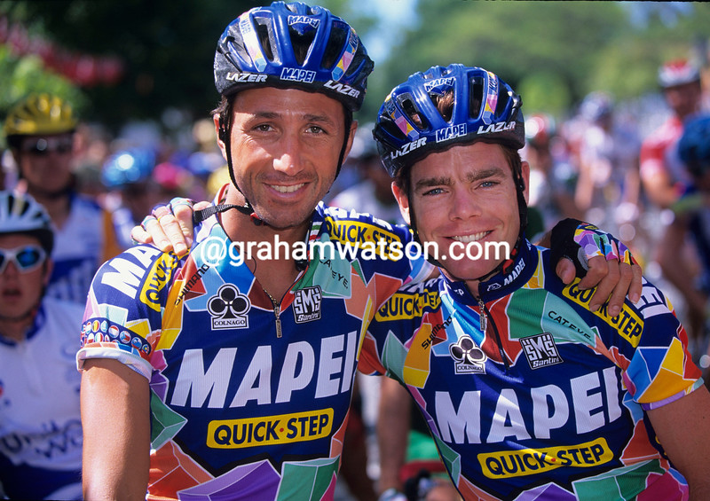 CADEL EVANS AND ANDREA TAFI IN 2002
