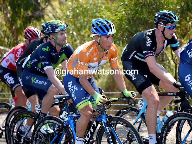 Caleb Ewan on stage 2 of the 2016 Tour Down Under