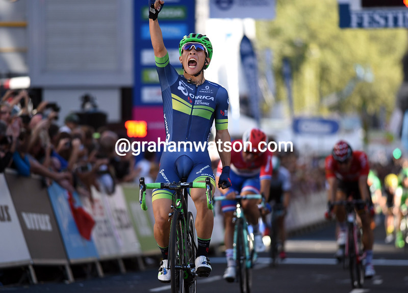Caleb Ewan wins stage eight of the 2016 Tour of Britain (PHOTO BY WOUTER ROOSENBOOM)