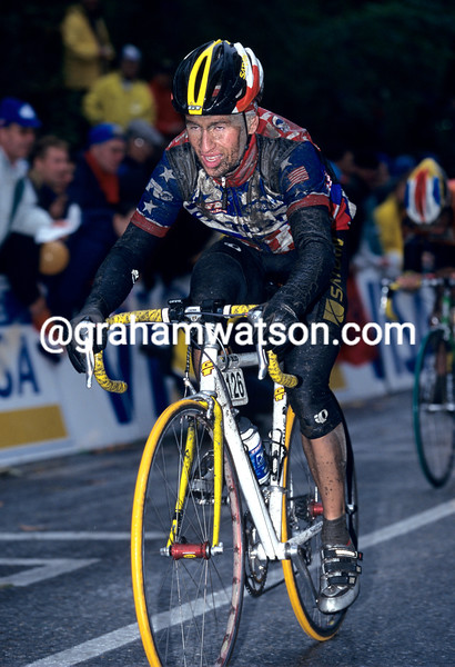 Chann McRae in the 1998 World Championships